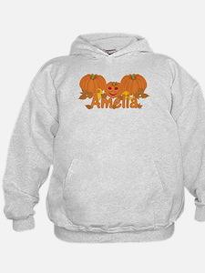Halloween Pumpkin Amelia Hoodie