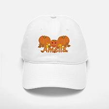 Halloween Pumpkin Amelia Baseball Baseball Cap