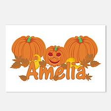 Halloween Pumpkin Amelia Postcards (Package of 8)