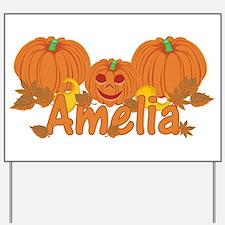 Halloween Pumpkin Amelia Yard Sign