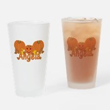 Halloween Pumpkin Angela Drinking Glass