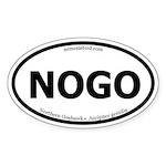 Northern Goshawk Oval Sticker