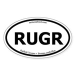 Ruffed Grouse Oval Sticker