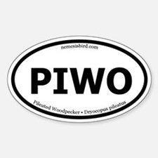 Pileated Woodpecker Oval Decal