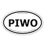 Pileated Woodpecker Oval Sticker