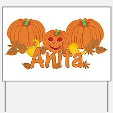 Halloween Pumpkin Anita Yard Sign