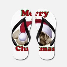 Christmas Pug Flip Flops