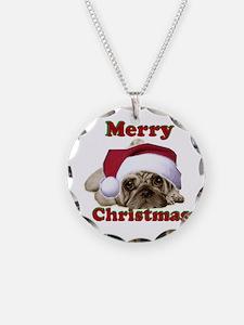 Christmas Pug Necklace