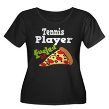 Tennis Player Funny Pizza T