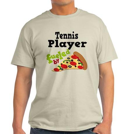Tennis Player Funny Pizza Light T-Shirt