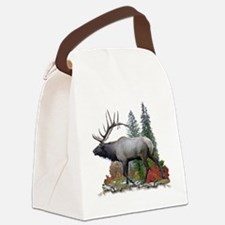 bull elk Canvas Lunch Bag
