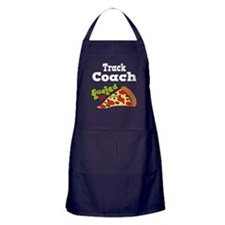 Track Coach Funny Pizza Apron (dark)