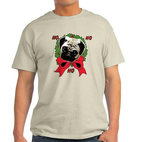 Christmas pug holiday Light T-Shirt