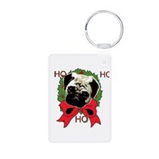 Christmas pug holiday Keychains