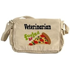 Veterinarian Fueled By Pizza Messenger Bag