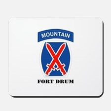 Fort Drum with Text Mousepad