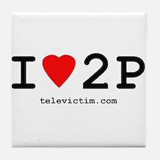 """""""I love 2P"""" Tile Coaster"""