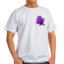 Purple Fiishii Ash Grey T-Shirt