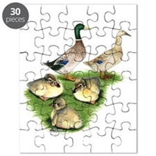Welsh Harlequin Duck Family Puzzle
