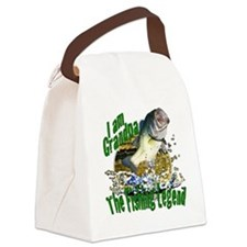 Grandpa the Bass fishing legend Canvas Lunch Bag