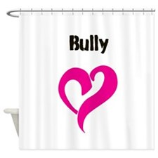 Bully Love Black Shower Curtain