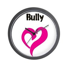 Bully Love Black Wall Clock