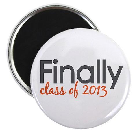 "Finally Class of 2013 Grad 2.25"" Magnet (100 pack)"