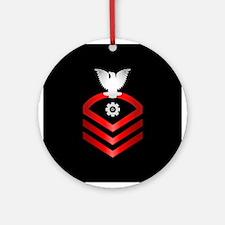 Navy Chief Engineman Ornament (Round)