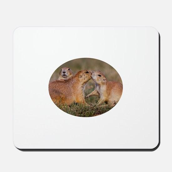 Prairie Dog Kiss Mousepad