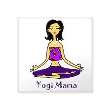 "Yogi Mama Square Sticker 3"" x 3"""