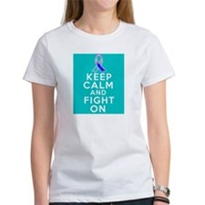 Thyroid Cancer Keep Calm Fight On Tee