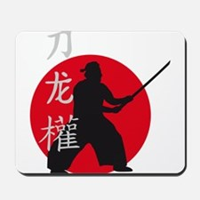 samurai with sword Mousepad