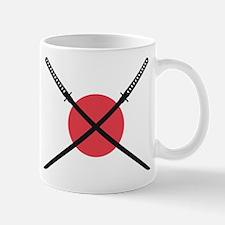 samurai sword with japanese flag Mug