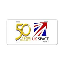 United Kingdom Space Agency Aluminum License Plate