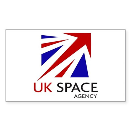 United Kingdom Space Agency Sticker (Rectangle 10