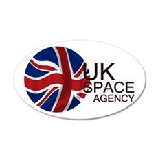 United Kingdom Space Agency 20X12 Oval Wall Decal