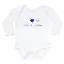 I Love My Liberal Grandma Infant Creeper Body Suit