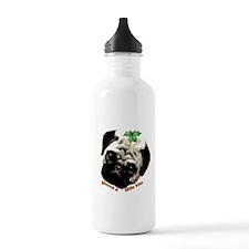 Christmas Pug Water Bottle
