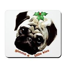 Christmas Pug Mousepad