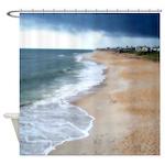 Flagler Beach Shoreline Shower Curtain