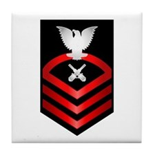 Navy Chief Gunner's Mate Tile Coaster