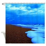 Flagler Beach Shoreline Picture Shower Curtain