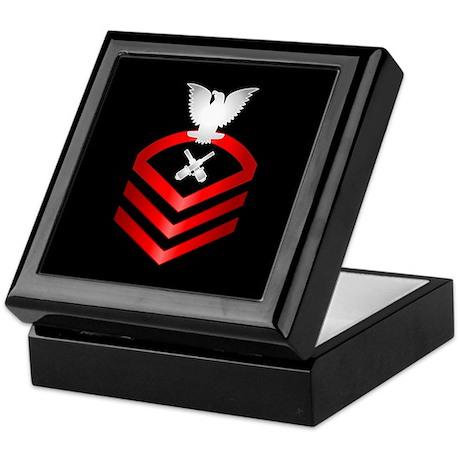 Navy Chief Gunner's Mate Keepsake Box