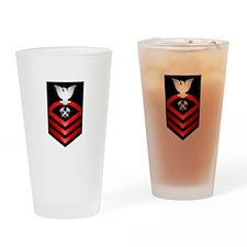 Navy Chief Hull Maintenance Technician Drinking Gl