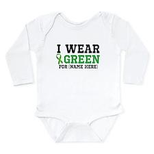 Personalize I Wear Green Long Sleeve Infant Bodysu