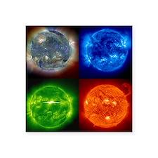 "Solar Four Square Sticker 3"" x 3"""