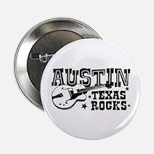 """Austin Texas Rocks 2.25"""" Button"""