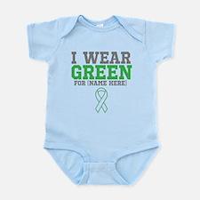 Custom I Wear Green Ribbon Infant Bodysuit