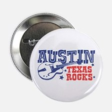 "Austin Texas Rocks 2.25"" Button"