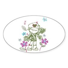 Go Eat Give Sticker (Oval)